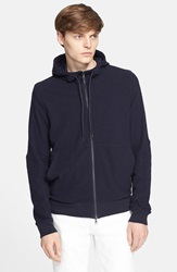 Vince Slub Thermal Zip Hoodie Coastal Blue