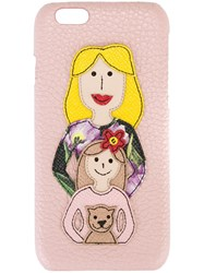Dolce And Gabbana Family Patch Iphone 6 Case Pink And Purple