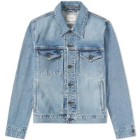 Rag And Bone Definitive Slim Fit Washed Denim Jacket Blue