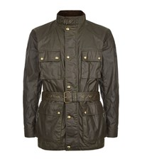 Belstaff Belted Roadmaster Jacket Male Olive