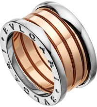 Bulgari B.Zero1 18Kt Pink And White Gold Ring