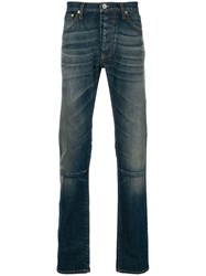 Unravel Project Stonewashed Skinny Jeans Blue