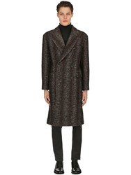 Tagliatore Oversized Wool Blend Houndstooth Coat Grey
