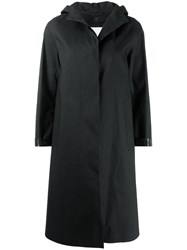 Mackintosh Chryston Black Bonded Cotton Hooded Coat Lr