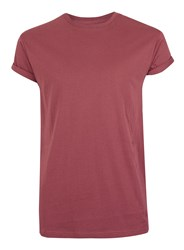 Topman Red Burgundy Muscle Fit Roller T Shirt