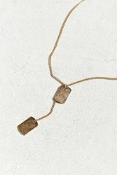 Urban Outfitters Double Dog Tag Necklace Gold
