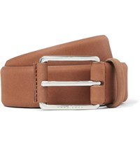 Hugo Boss 3.5Cm Tan Catios Nubuck Belt Brown