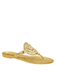 Jack Rogers Sparkle Georgica Jelly Sandals Gold