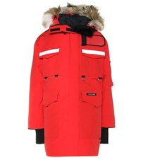 Canada Goose Resolute Down Parka With Fur Red