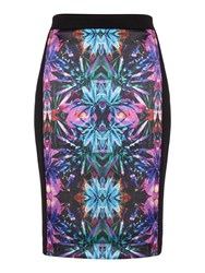 Pied A Terre Kaleidoscope Printed Panelled Skirt Multi Coloured