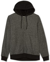 Jem Men's Marled Zip Up Hoodie Charcoal