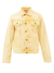 Y Project Double Seam Over Dyed Denim Jacket Yellow