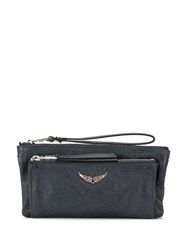 Zadig And Voltaire Etoile Clutch Blue