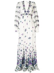 Andrew Gn Woven Maxi Dress White