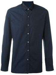 Lanvin Classic Slim Fit Shirt Blue
