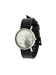 South Lane Avant Invert Watch Calf Leather Stainless Steel Black