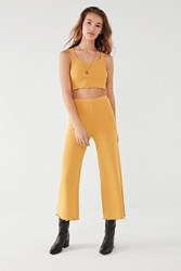 Urban Outfitters Uo Ribbed Sweater Wide Leg Pant Mustard
