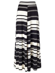 Phase Eight Kat Stripe Maxi Skirt Black Champagne