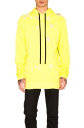 Unravel For Fwrd Oversized Hoodie In Yellow Neon Yellow Neon