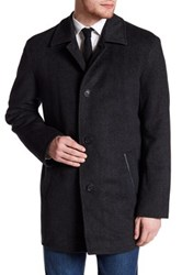 Cole Haan Herringbone Topper Coat Gray