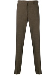 Altea Slim Fit Tailored Trousers Brown