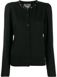 Boutique Moschino Stud Detail Cardigan Black