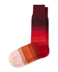 Paul Smith Gradient Multi Striped Socks Red