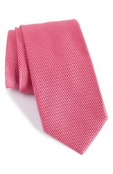 Nordstrom Men's Solid Silk Tie Dark Pink