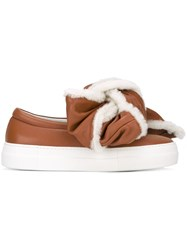 Joshua Sanders Crumbled Bow Sneakers Brown