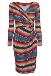 James Lakeland Stripe Print Cross Dress Multi Coloured