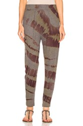 Raquel Allegra Easy Pant In Green Ombre And Tie Dye Red Green Ombre And Tie Dye Red