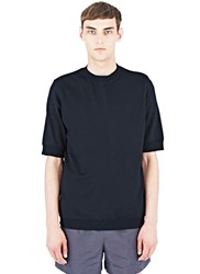 Aiezen Short Sleeved Wool Sweatshirt Black