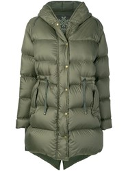 Mr And Mrs Italy Hooded Padded Coat Green
