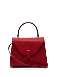 Valextra Iside Mini Grained Leather Bag Red