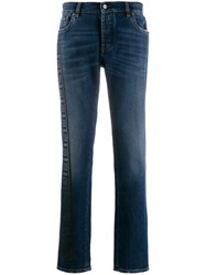Versace Collection Skinny Logo Jeans Blue