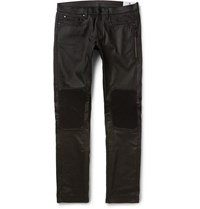 Belstaff Blackrod Slim Fit Coated Stretch Denim Biker Jeans Black