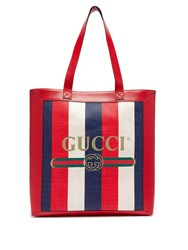 Gucci Striped Large Tote Bag Navy Multi