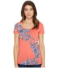 Tommy Bahama Lavatera Leis Short Sleeve Tee Fusion Women's T Shirt Blue
