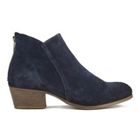 H Shoes By Hudson Women's Apisi Suede Heeled Ankle Boots Navy