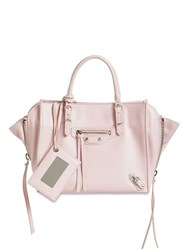 Balenciaga Mini Papier A4 Leather Tote Bag Lught Rose