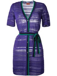 Missoni Buttoned Belted Dress Pink Purple