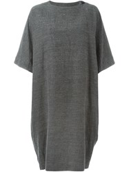 Arts And Science Oversized Short Sleeved Dress Grey