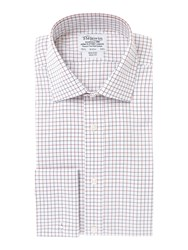 T.M.Lewin Men's Tm Lewin Non Iron Check Slim Fit Shirt Red