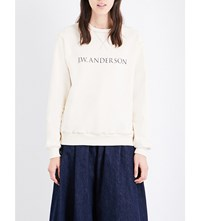 J.W.Anderson Jw Anderson Rainbow Stitched Cotton Jersey Sweatshirt Calico
