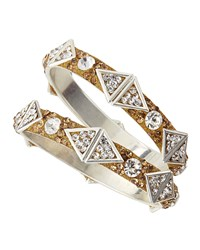 Chamak By Priya Kakkar Triangle Glitter Rhinestone Bangle Set Golden