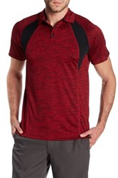 Burnside Spread Collar Raglan Sleeve Polo Red