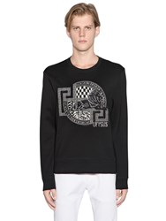 Versus Lion Patch Cotton Neoprene Sweatshirt
