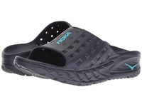 Hoka One One Ora Recovery Slide Medieval Blue Blue Atoll Men's Running Shoes Navy