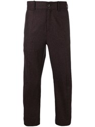 Damir Doma Plaid Slim Fit Trousers Red