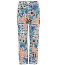 Acne Studios Tyna Embroidered High Waisted Jeans Multicoloured